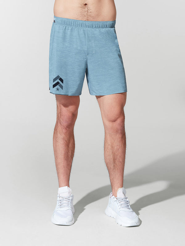 LULULEMON // BARRY'S HEATHER BLUE 6' SURGE SHORT