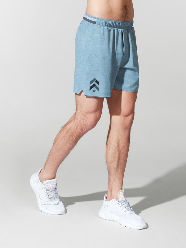 LULULEMON HEATHER BLUE 6IN SURGE SHORT