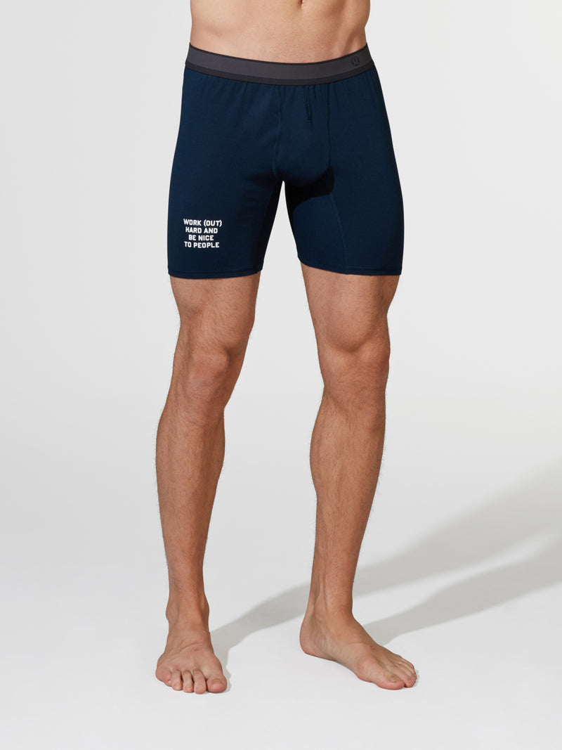 LULULEMON NAVY NO BOXER LONG BOXER