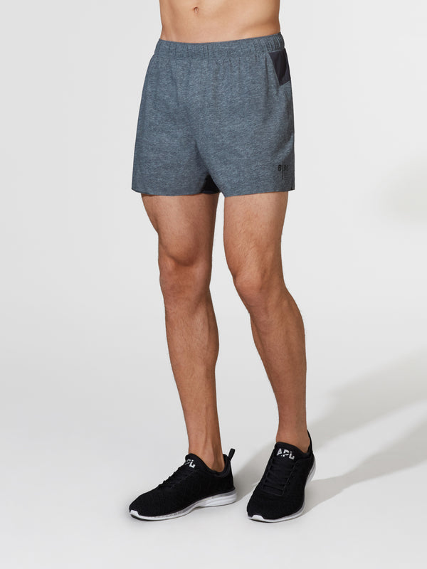 LULULEMON X BARRY'S HEATHER GREY SURGE SHORT