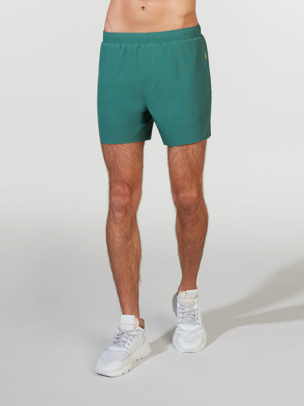 RHONE X BARRY'S MALLARD GREEN SWIFT LINED SHORT