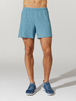 LULULEMON HEATHER BLUE SURGE SHORT