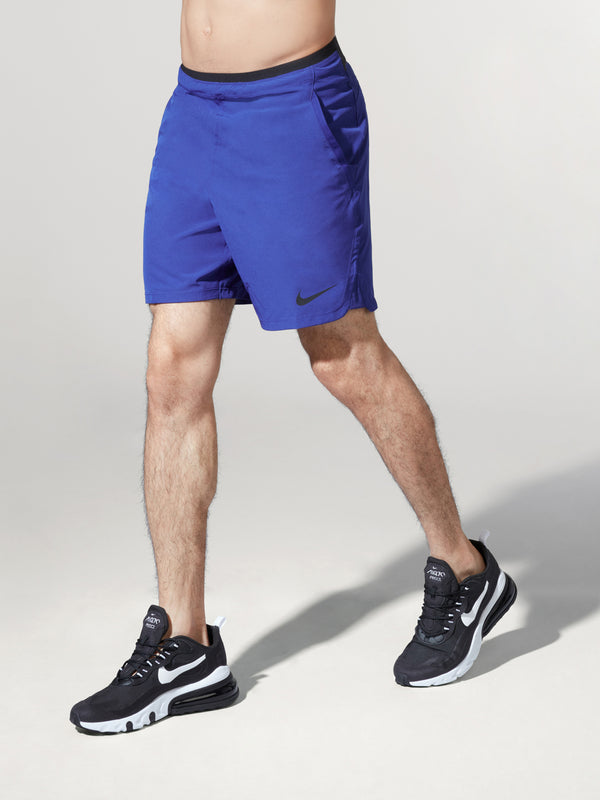 NIKE X BARRY'S ROYAL BLUE PRO FLEX REPEL SHORT