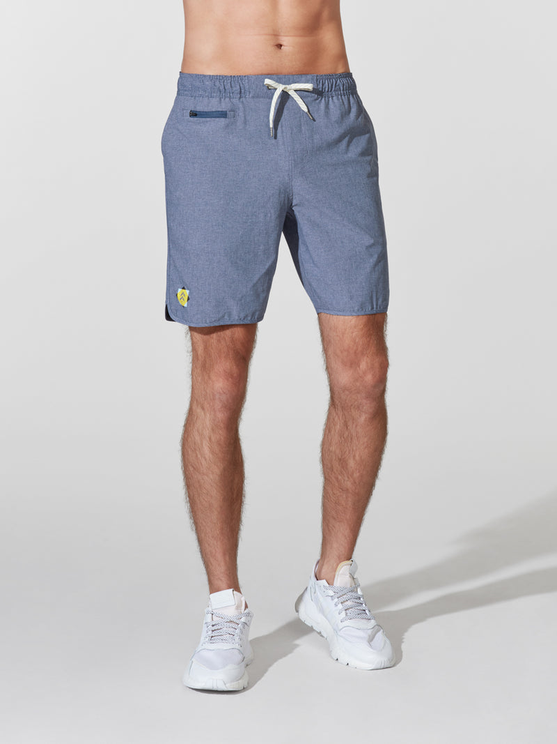 VUORI NAVY BANKS SHORT