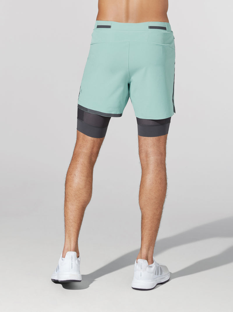 LULULEMON // BARRY'S SEA WATER 6 IN LINED SURGE SHORT