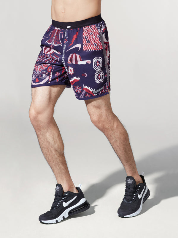 NIKE X BARRY'S IMPERIAL PURPLE WILD RUN SHORT