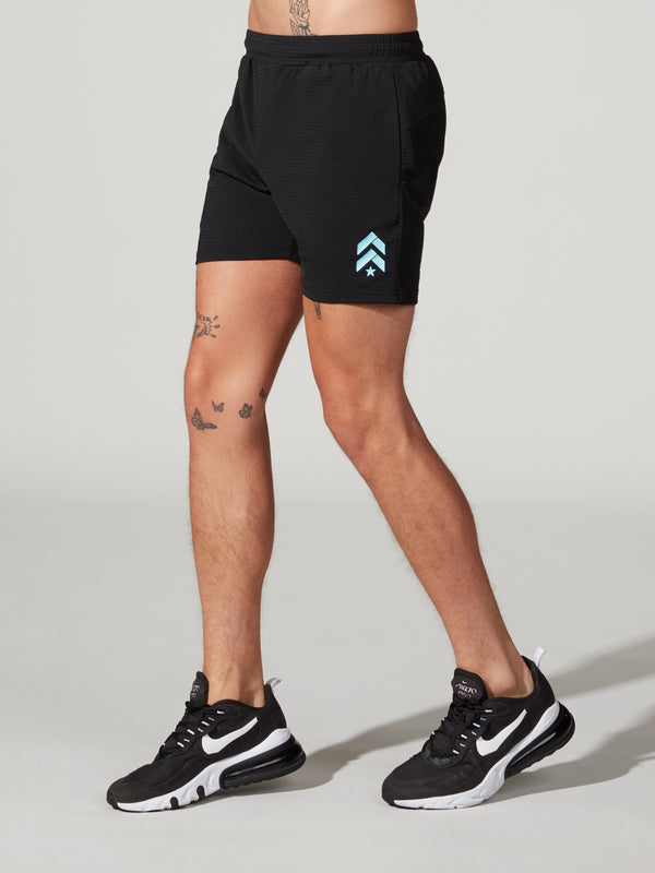 STEELE BLACK PERFORMANCE MESH SHORT