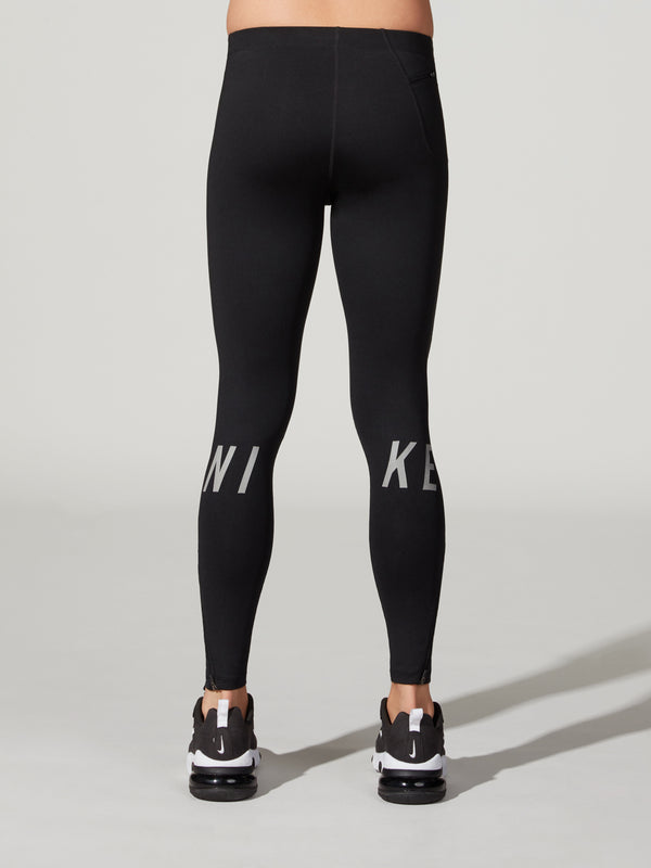 NIKE GRAPHIC RUNNING TIGHT BLACK