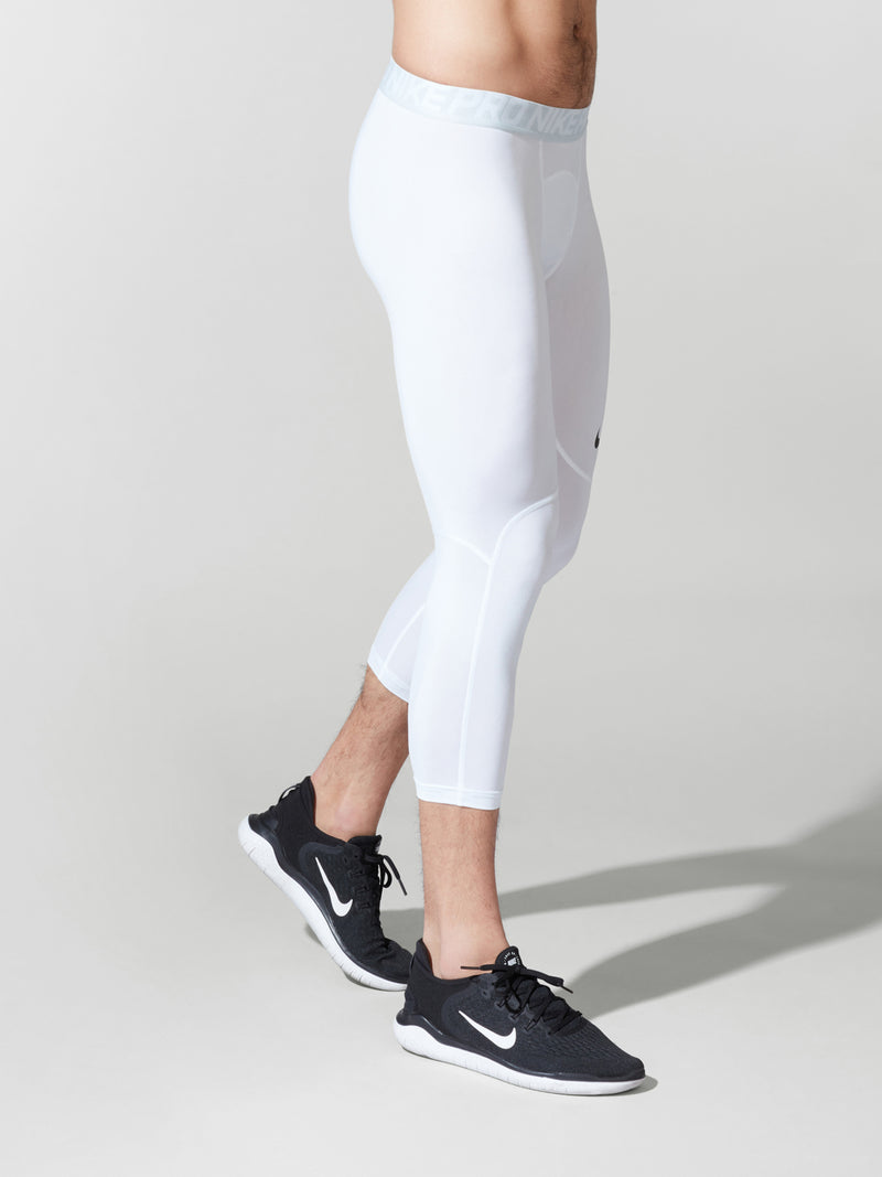 NIKE NEW SPIRIT WHITE PRO TIGHTS