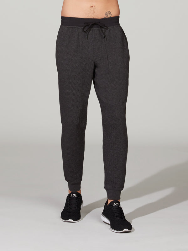 LULULEMON HEATHERED BLACK AT EASE JOGGER