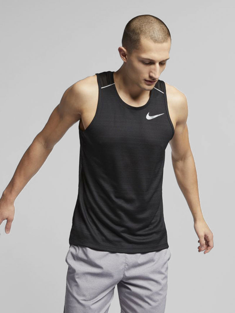 NIKE X BARRY'S BLACK DRI-FIT MILER TANK
