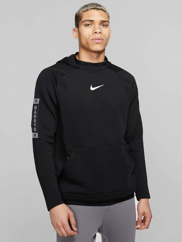 NIKE HOODED PRO FLEECE BLACK