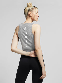 NIKE HEATHER GREY SPW HERITAGE TANK
