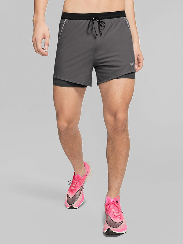 NIKE X BARRY'S BLACK FLEX SWIFT 2 IN 1 SHORT