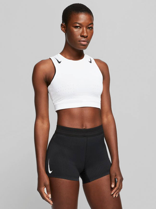 NIKE WHITE AEROSWIFT CROP TANK