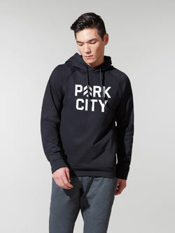 LULULEMON // BARRY'S PARK CITY BLACK CITY SWEAT HOODIE