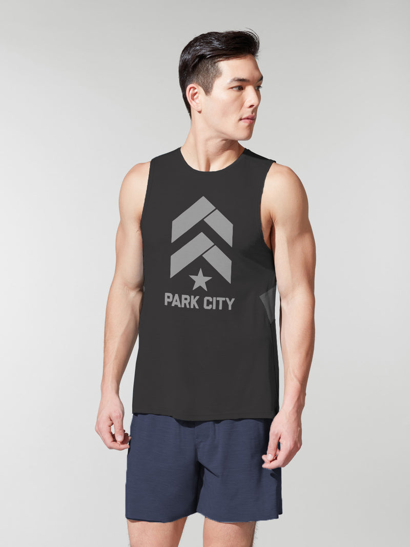 LULULEMON // BARRY'S PARK CITY BLACK FAST AND FREE TANK