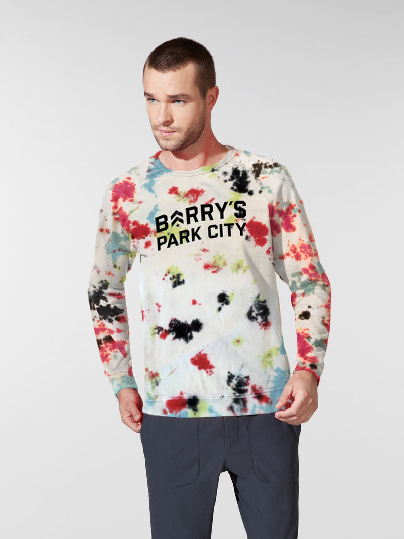 BARRY'S PARK CITY TIE DYE PULLOVER