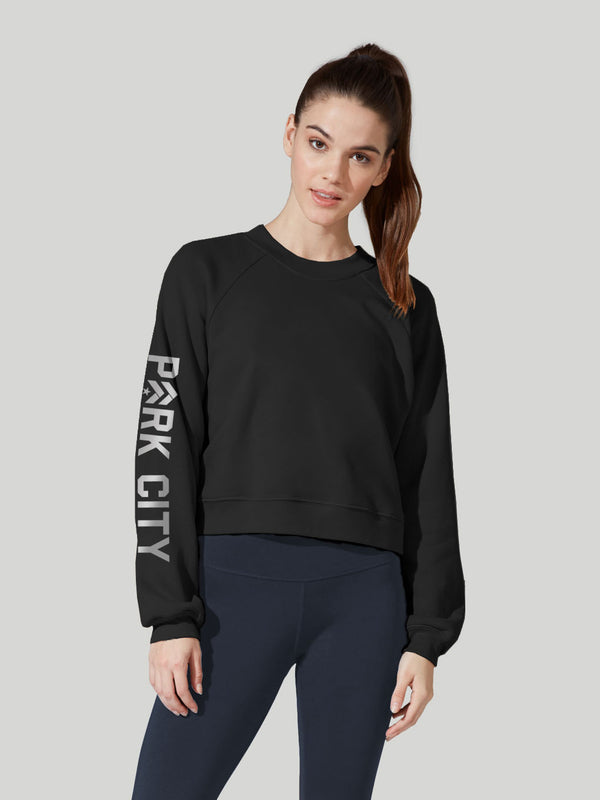 BARRY'S PARK CITY BLACK RAGLAN PULLOVER