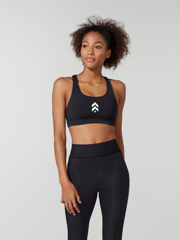 LULULEMON // BARRY'S BLACK INVIGORATE BRA