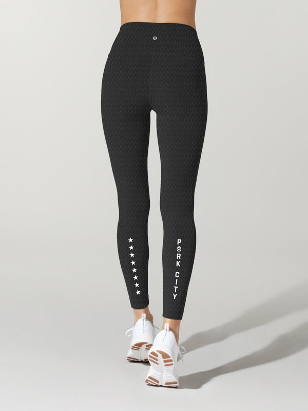 LULULEMON // BARRY'S PARK CITY BLACK WUNDER UNDER LEGGING