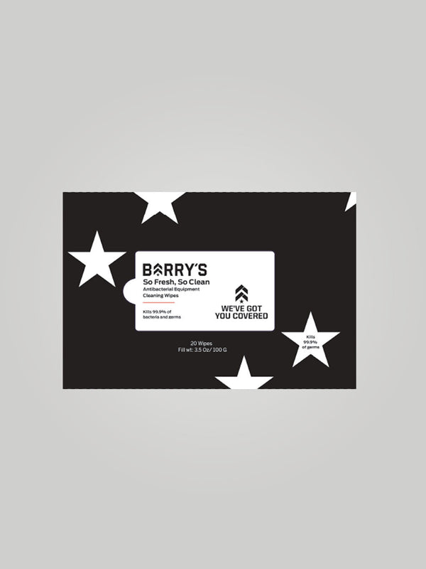 BARRY'S EQUIPMENT WIPES PACK