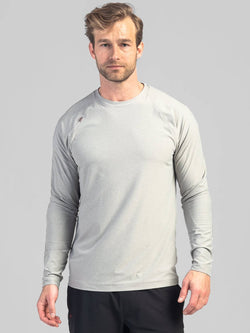 RHONE LIGHT GREY REIGN LONG SLEEVE