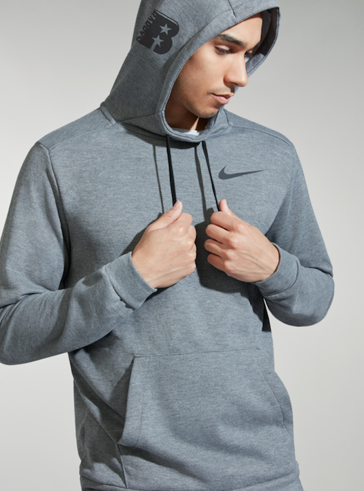 NIKE CHARCOAL HEATHER DRI FIT HOODIE