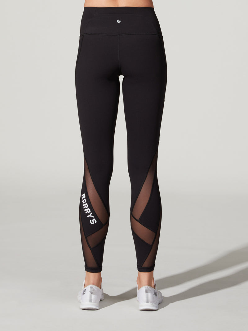 LULULEMON BLACK HI-RISE MESH TIGHT