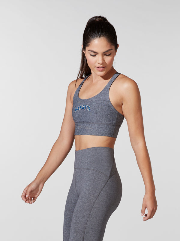 LULULEMON // BARRY'S HEATHER BLACK LONGLINE BRA