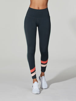 BARRY'S FIT NAVY CORAL HIGH WAIST 7/8 SPEED TIGHT