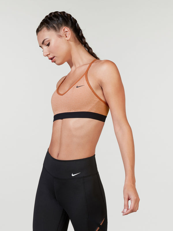 NIKE DUSTY PEACH INDY BRA