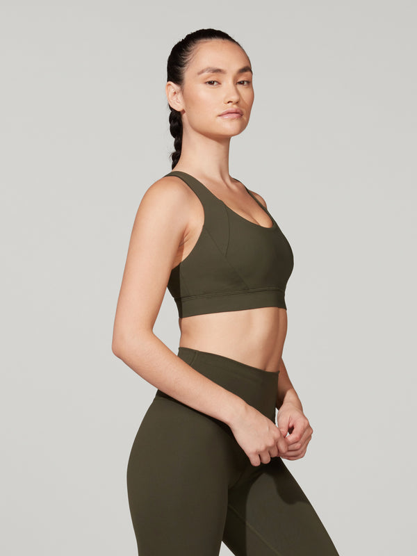 LULULEMON DARK OLIVE FREE TO BE ELEVATED BRA