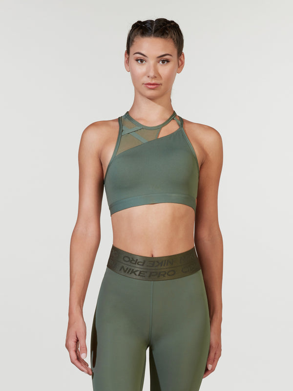 NIKE JUNIPER FOG SWOOSH REBEL SLASH BRA