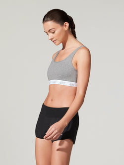 NIKE CLASSIC SOFT BRA CARBON HEATHER