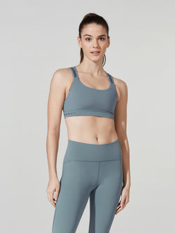 LULULEMON // BARRY'S BLUE CHARCOAL STRAPPY ENERGY BRA
