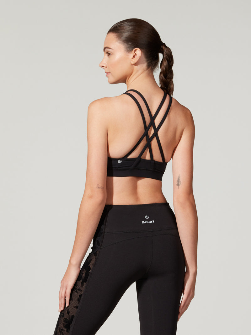 LULULEMON BLACK FLORAL ENERGY BRA