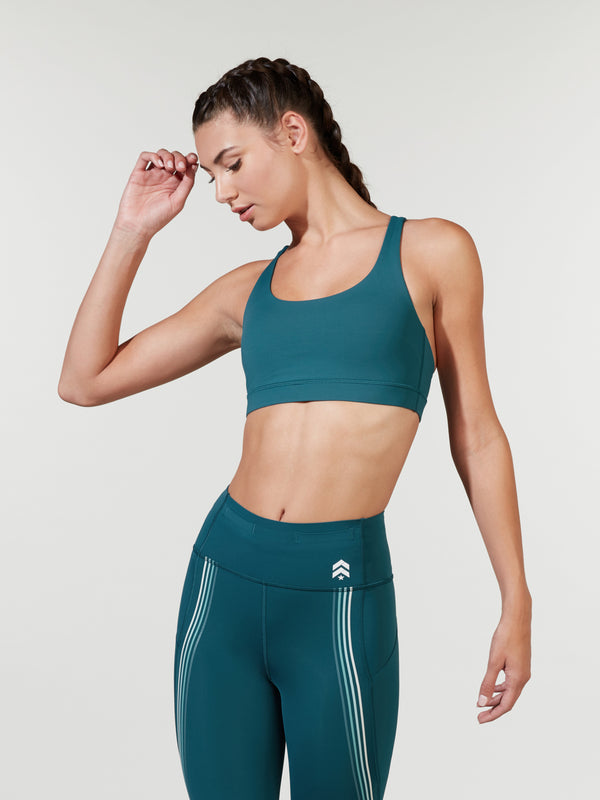 LULULEMON // BARRY'S BERMUDA TEAL ENERGY BRA