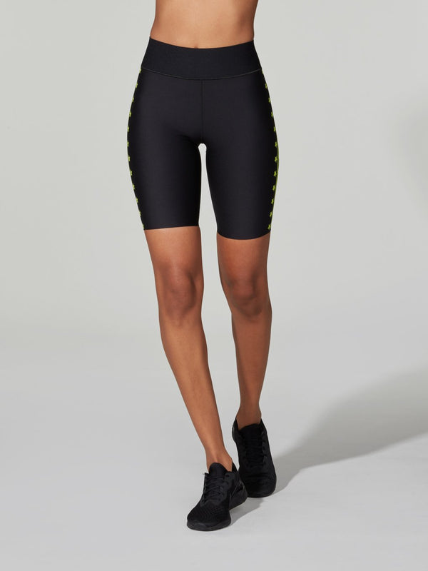 ULTACOR BLACK NEON STARS FLASH NERO HIGH BIKER SHORT