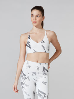 BARRY'S FIT WINTER WHITE POWER UP FOIL BRA