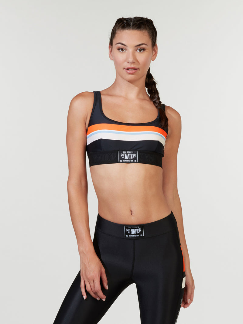 PE NATION X BARRY'S PROVISION SPORTS BRA