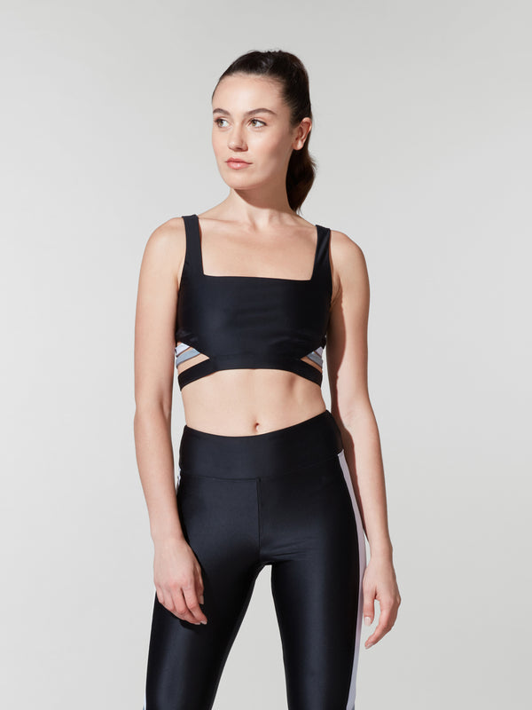 KORAL BLACK NOBU ENERGY SPORTS BRA