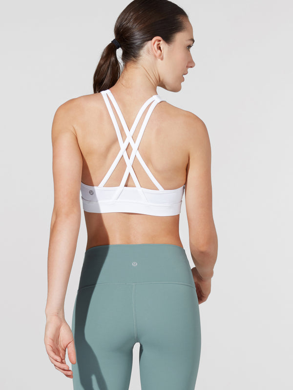 LULULEMON // BARRY'S WHITE HIGH NECK ENERGY BRA