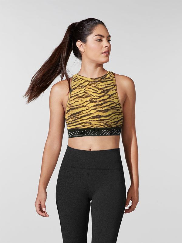 PAM & GELA X BARRY'S GOLD TIGER TECHNO BRA