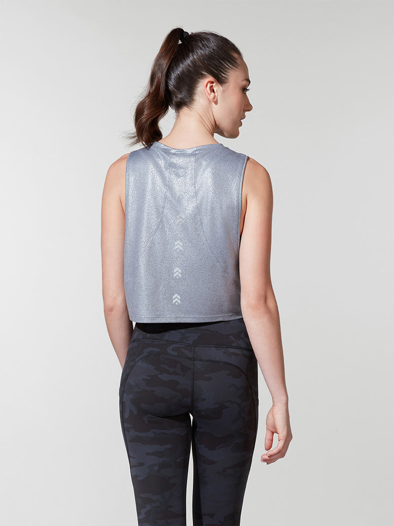 LULULEMON FOIL MUSCLE LOVE CROP TOP