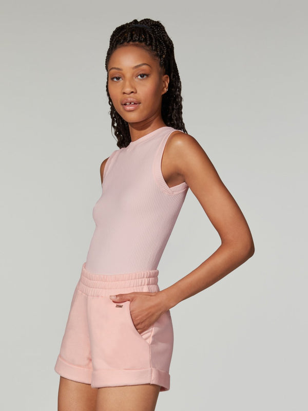 LUNE X BARRY'S LIGHT PINK BAMBOO RIB TOP