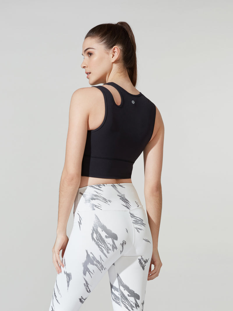 LULULEMON // BARRY'S BLACK MASTERED MOTION CROP TANK