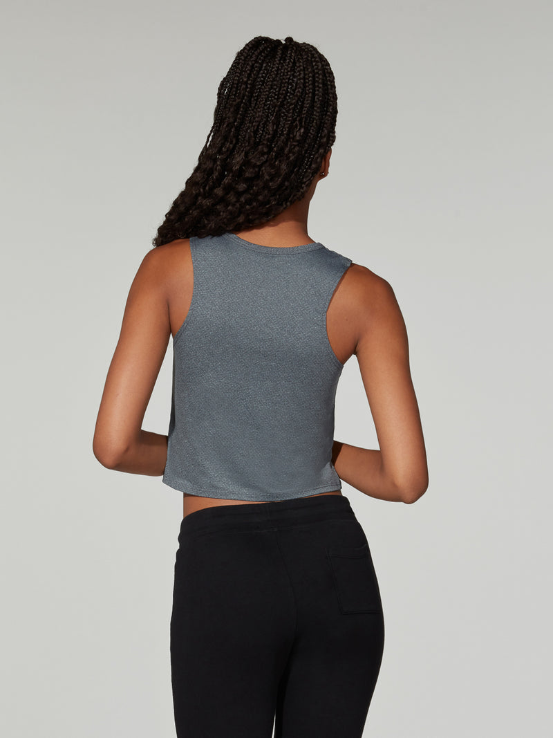 BARRY'S FIT HEATHER GREY LOCATION SPECIFIC CROP TANK