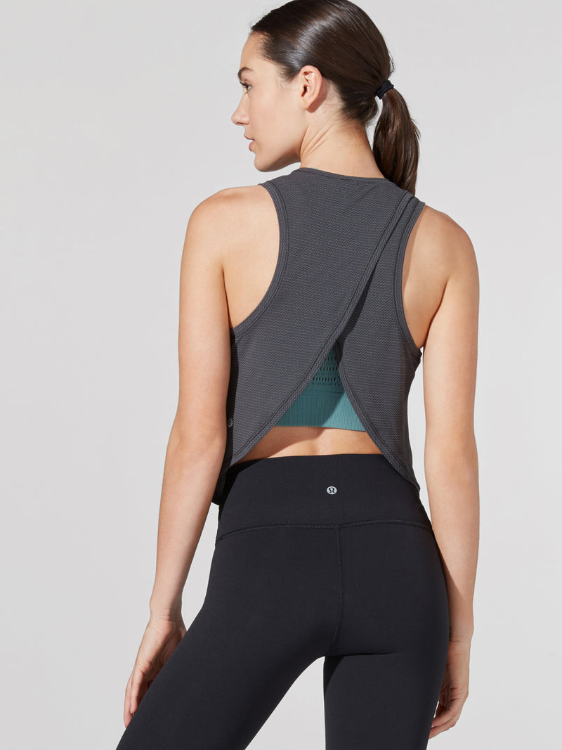 LULULEMON GRAPHITE GREY FAST AS LIGHT MUSCLE TANK
