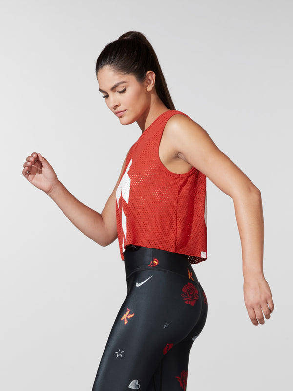 SPLITS59 X BARRY'S CRIMSON DANI MESH TANK